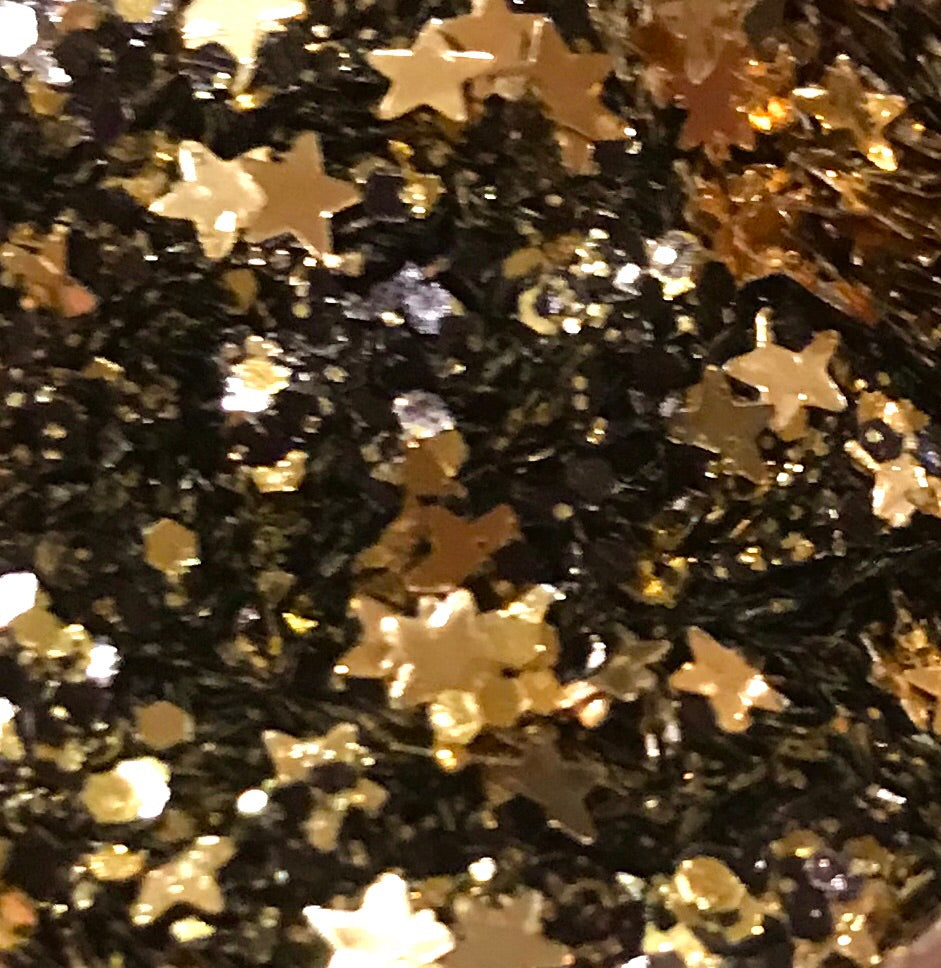 Sparklies Glitter Black and Gold - Nirvana Nail and Beauty Supplies