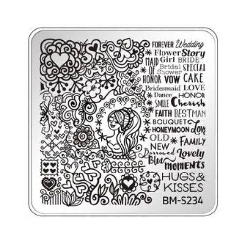 Bundle Monster Occasions Collection Nail Art Stamping Plates - Family Ties BM-S234 - Nirvana Nail and Beauty Supplies