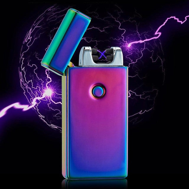 Dual Arc Electric USB Lighter Rechargeable Plasma Flameless Cigarette Fashion Isqueiro Encendedor Lighter Without Fuel