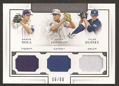 ET 2016 National Treasures Collegiate Brian Johnson/ Nola/ Duffey Jersey 06/99