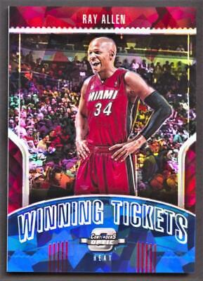 2018-19 Panini Contenders Optic Winning Tickets Blue Cracked Ice #34 Ray Allen