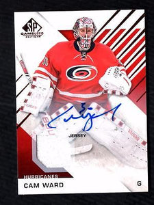 ET) 	2016-17 SP Game Used Red #68 Cam Ward Jersey AUTO HURRICANES