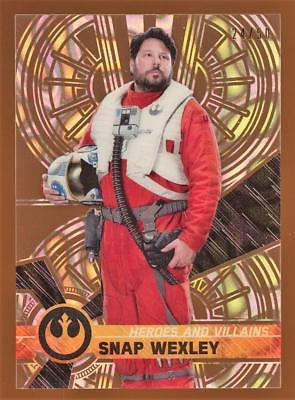 2017 Star Wars High Tek Heroes & Villains of The Force Awakens Snap Wexley 24/50