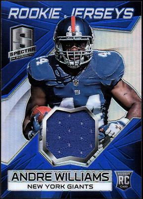 JC 	2014 Panini Spectra Rookie Jerseys Prizms Blue #37 Andre Williams #24/49