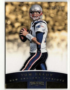 ZB) 2012 PROMINENCE FB TOM BRADY #56 BLUE #389/897 NEW ENGLAND PATRIOTS