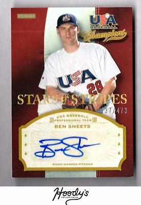 ET) 2013 USA Baseball Champions Stars and Stripes Ben Sheets AUTO 137/473