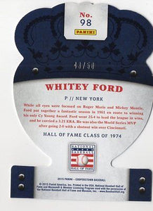 2015 Panini Cooperstown 75th Anniversary Whitey Ford Purple Crown Royale 43/50