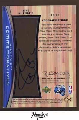 2002-03 Upper Deck Hardcourt Autographs #MMC Mike Miller AUTO MAGIC