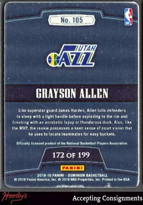 Image of 2018-19 Panini Dominion Metal Rookie Grayson Allen 172/199 RC JAZZ