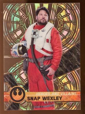 Image of 2017 Star Wars High Tek Heroes & Villains of The Force Awakens Snap Wexley 26/50