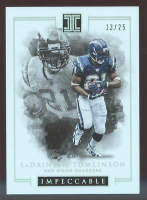 2016 PANINI IMPECCABLE FB LADAINIAN TOMLINSON #19 SILVER #13/25 CHARGERS