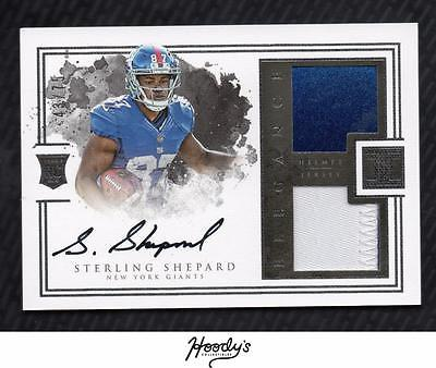 2016 Panini Impeccable #161 Sterling Shepard Helmet PATCH AUTO 43/75 GIANTS RC