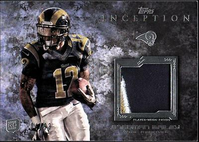 JC 2013 Topps Inception Rookie Relics Patch #RPSB Stedman Bailey #04/93