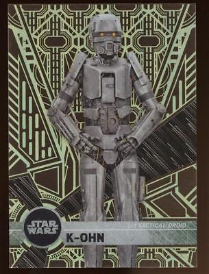 Image of 2017 Topps Star Wars High Tek K-OHN  #106 PATTERN 3 FORM 2