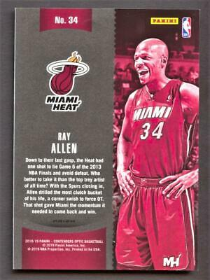 Image of 2018-19 Panini Contenders Optic Winning Tickets Blue Cracked Ice #34 Ray Allen
