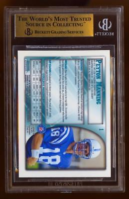 Image of 1998 Bowman Chrome #1 Peyton Manning ROOKIE BGS 9.5 Gem Mint COLTS RC