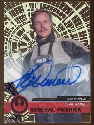 Image of 2017 Star Wars High Tek Autographs #NNO Ben Daniels as General Merrick AUTO