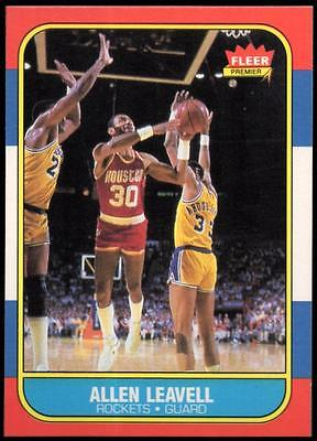 1986-87 Fleer #62 Allen Leavell
