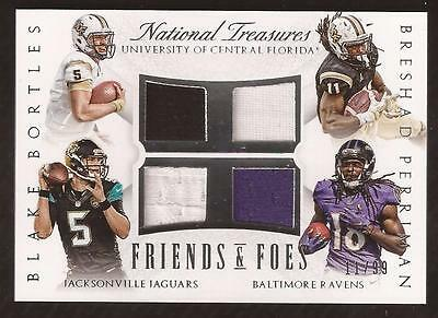JC 2015 National Treasures Friends & Foes Bortles/Perriman Jersey 11/99 Jersey #