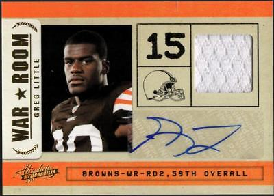 ZB) 2011 ABSOLUTE GREG LITTLE#16 RC WAR ROOM RELIC AUTO #26/49 BROWNS