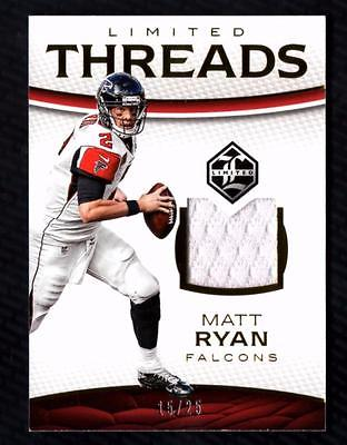 VM) 2016 Limited Threads #17 Matt Ryan Game Used Jersey 15/25 FALCONS