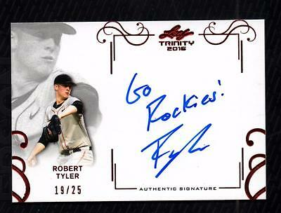 VM) 2016 Leaf Trinity Red Spectrum #ART1 Robert Tyler Autograph AUTO 19/25 RC