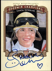 ET 	2012 Upper Deck Goodwin Champions Autographs #ASU Chantal Sutherland D