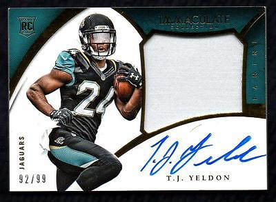 ET 2015 Immaculate Collection Rookie Premium Patch T.J. Yeldon AUTO 92/99