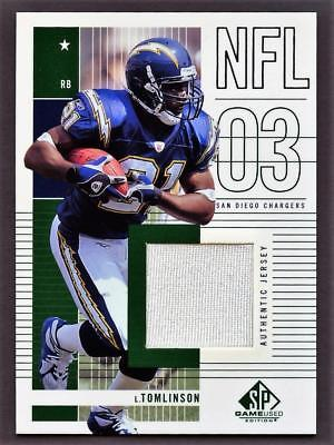 Image of 2003 SP Game Used Edition #175 LaDainian Tomlinson Jersey Relic CHARGERS