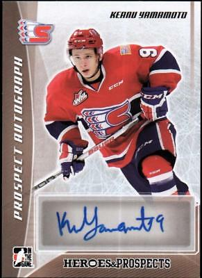 ET)2016-17 ITG Heroes and Prospects Prospect Autographs Keanu Yamamoto SP AUTO