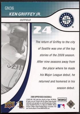 Image of 2009 Upper Deck Update Generation Now Gold #GN36 Ken Griffey Jr. 11/99 MARINERS
