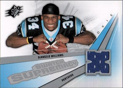 MC 	2006 SPx Rookie Swatch Supremacy #SWDW DeAngelo Williams