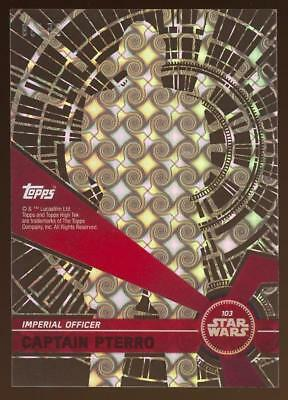 Image of 2017 Topps Star Wars High Tek Tidal Diffractors #103 Captain Pterro 65/99