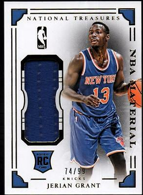 JC 2015-16 Panini National Treasures NBA Rookie Materials #15 Jerian Grant#74/99