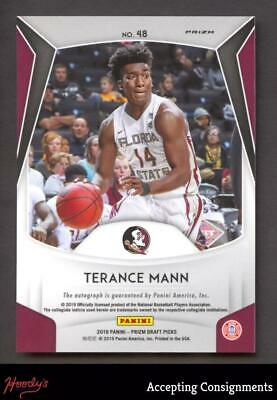 Image of 2019-20 Panini Prizm Draft Picks Autographs Prizms #48 Terance Mann AUTO RC