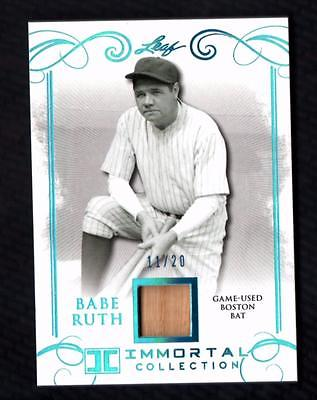 ET) 2017 Leaf Babe Ruth Immortal Collection Boston Bat #BB08 Babe Ruth 11/20