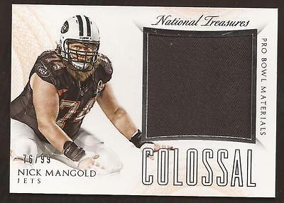 JC 2015 National Treasures Colossal Pro Bowl Nick Mangold Jersey 76/99 JETS