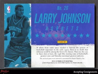 Image of 2013-14 Elite Throwback Threads #26 Larry Johnson JERSEY HORNETS