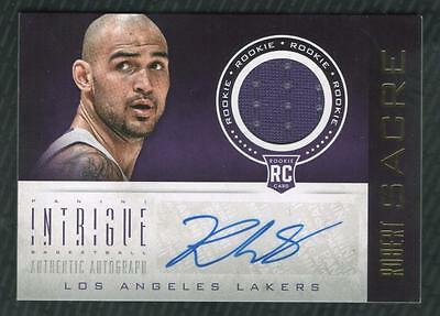 JC 	2012-13 Panini Intrigue #134 Robert Sacre Jersey AUTO RC LAKERS