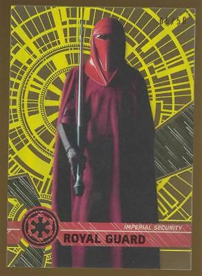 Image of 2017 Topps Star Wars High Tek Gold Rainbow Foil #74 Royal Guard 05/50