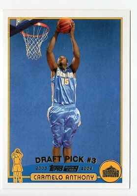 2003-04 Topps Collection #223 Carmelo Anthony RC Nuggets