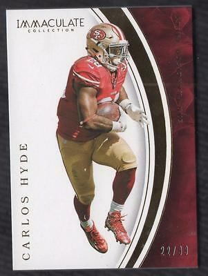 JC  2016 Immaculate Collection #91 Carlos Hyde 22/99 49er's