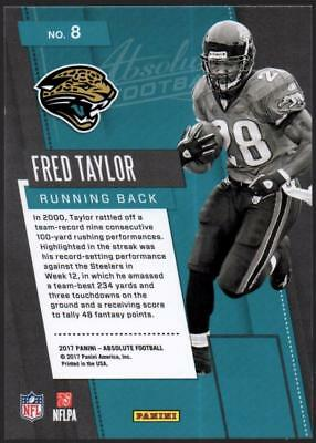 Image of MC) 2017 Absolute Fantasy Flashbacks #8 Fred Taylor JAGUARS