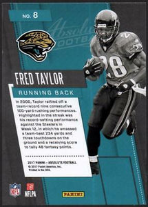 MC) 2017 Absolute Fantasy Flashbacks #8 Fred Taylor JAGUARS