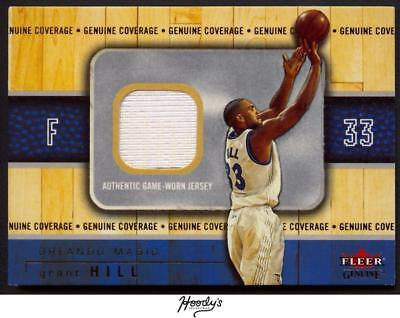 2002-03 Fleer Genuine Coverage Gold #8 Grant Hill Jersey Relic 046/100 MAGIC
