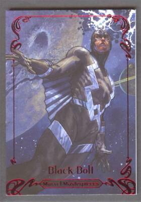 2018 MARVEL MASTERPIECES BLACK BOLT #75 RED SPECTRUM PARALLEL #1/1