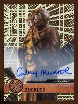 2017 Topps Star Wars High Tek Autographs Cathy Munroe as Zuckuss AUTO