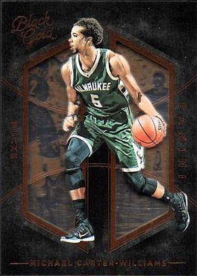 VM  	2015-16 Panini Black Gold Bronze #42 Michael Carter-Williams