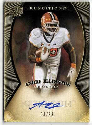 ZB) 2013 UD QUANTUM FB ANDRE ELLINGTON #R-AE RC ON CARD AUTO #33/99 CARDINALS