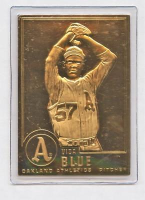 Danbury Mint 22kt Gold Baseball Card Vida Blue 25 Oakland Athletics